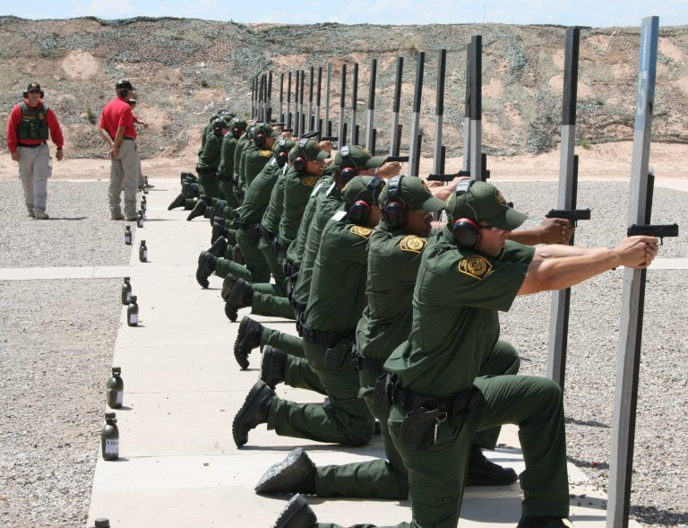 The Federal Law Enforcement Training center in Artesia has 16 indoor and outdoor firing ranges where Border Patrol trainees and other federal agents hone shooting skills. FLETC photo.  jdispenza@abqjournal.com Tue Apr 19 11:27:36 -0600 2011 1303234052 FILENAME: 106979.JPG