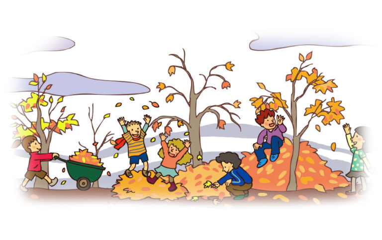 smoky-mountains-kids-playing-in-leaves
