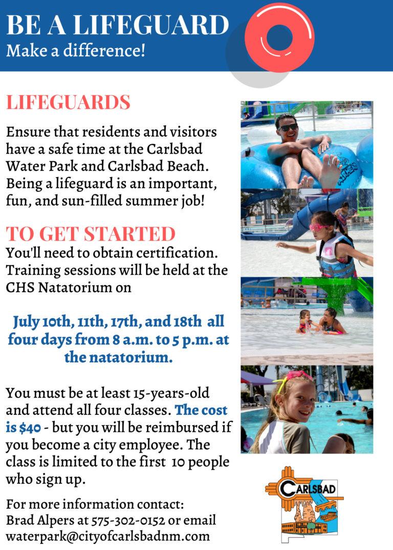 Lifeguard Flyer July 2021